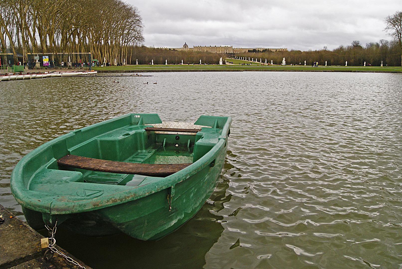 la barque et le château, Versailles