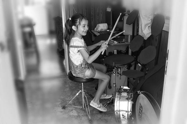 La baterista