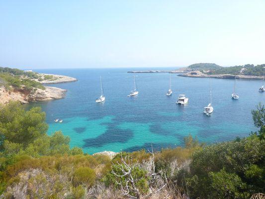 La beauté d'une crique sur l'ile d'Ibiza