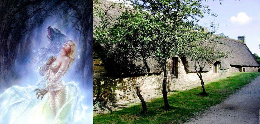 La belle et le lou dans sa maison bretonne