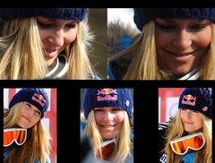 La belle Lindsey Vonn 2ème Super G Cran Montana 07/03/2010
