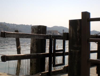 La bellezza del Lago d'Orta è dovuta anche ai sui vecchi imbarcadero