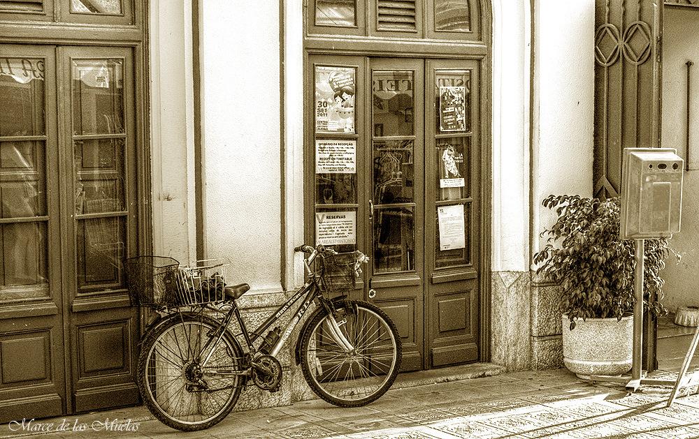 ...la bicicleta...