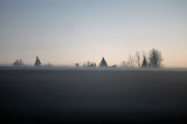 la brume se lève ..