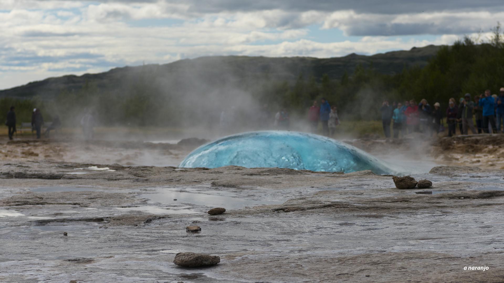 la burbuja de geisy Islandia