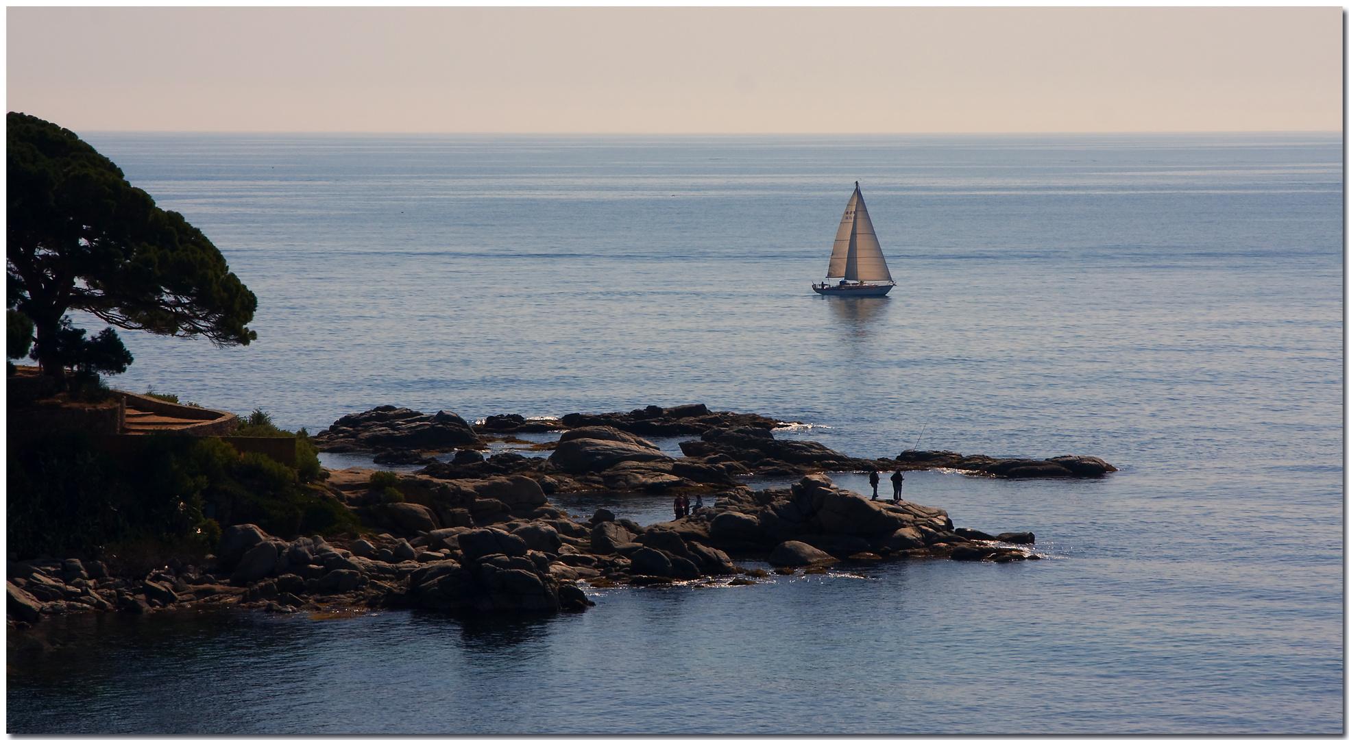 La calma de la mar a primera hora