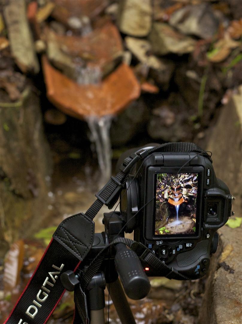 La cámara en la fuente,la fuente en la cámara.