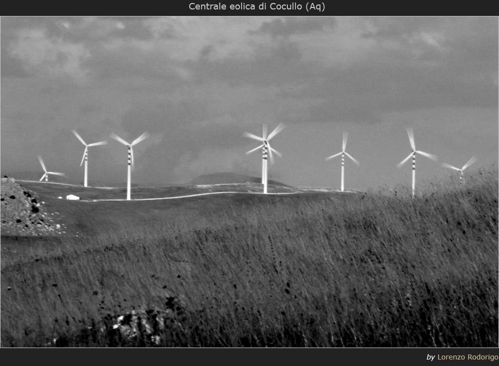La centrale eolica di Cocullo (Aq)