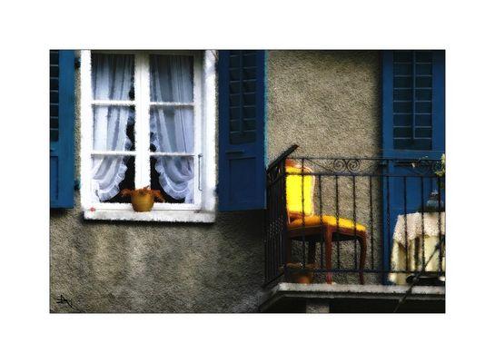 """La chaise jaune"""