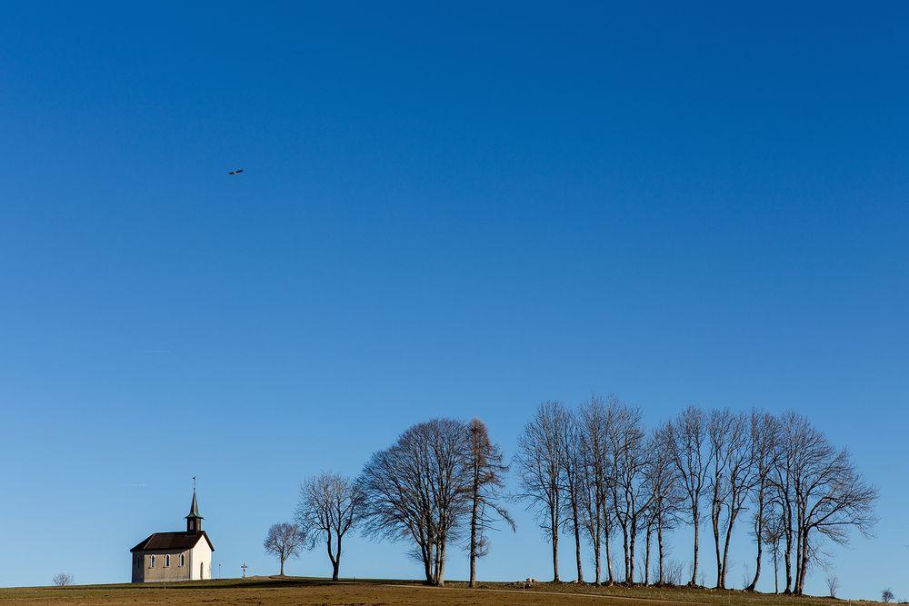La chapelle et les arbres
