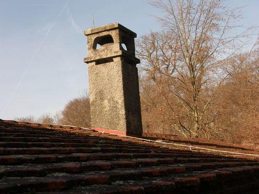 La cheminée du toit