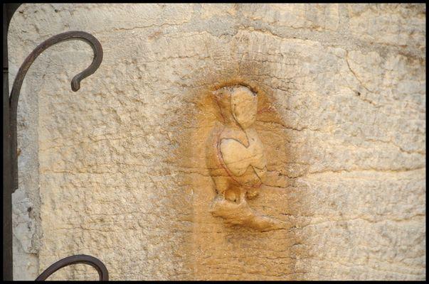 La chouette de l'église Notre Dame,Dijon,France.