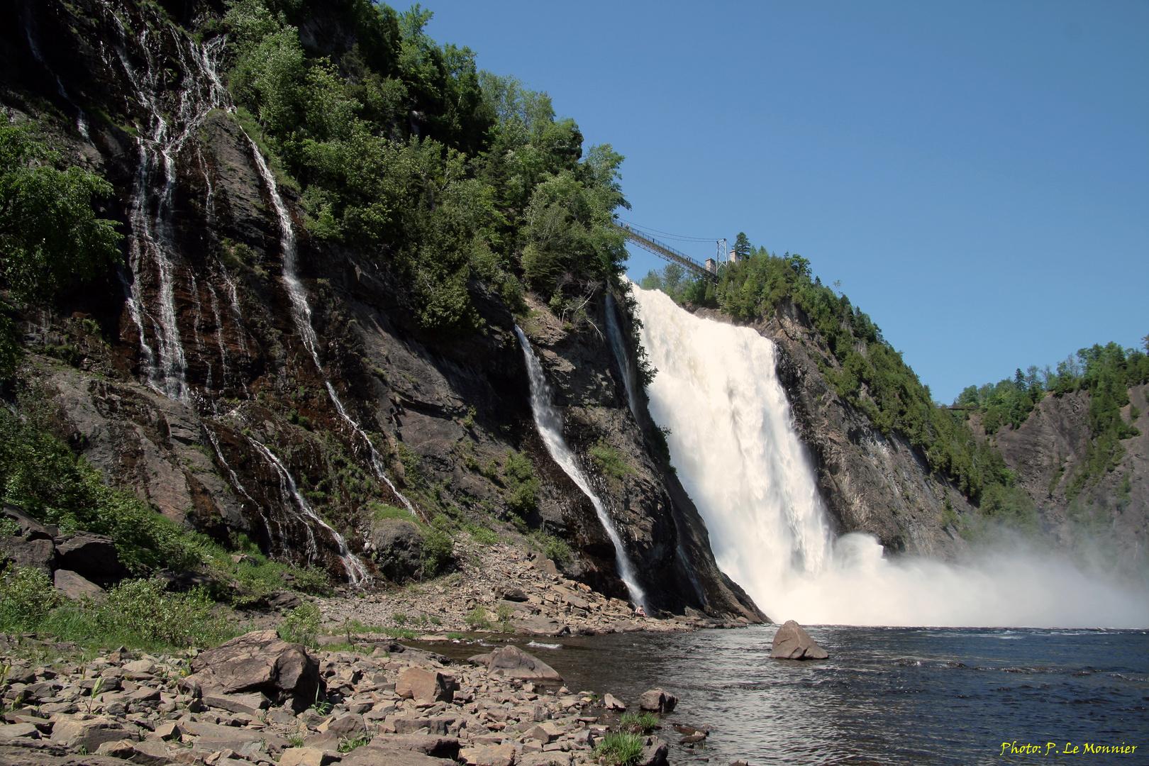 La chute Montmorency - vue d'en bas...