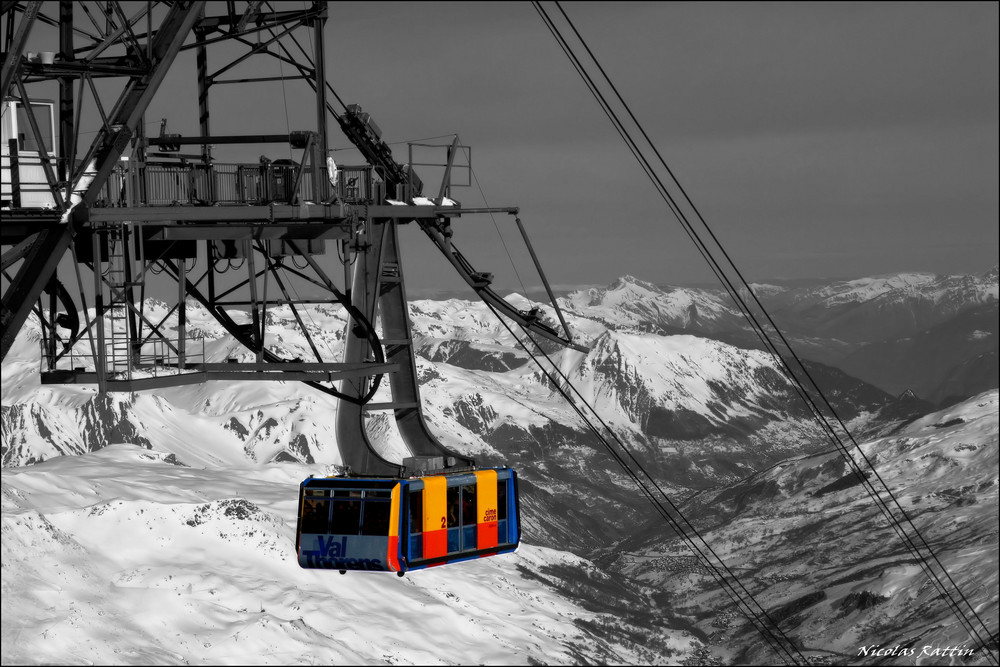 """La cime Caron 3200m a VAL THORENS (savoie)"