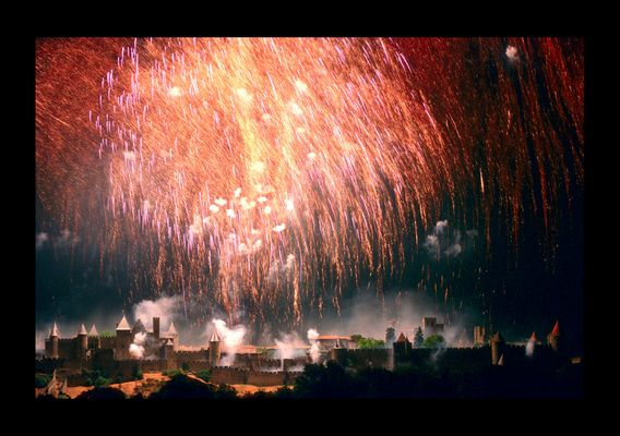 La Cité de Carcassonne lors de LA soirée annuelle, juillet 2004