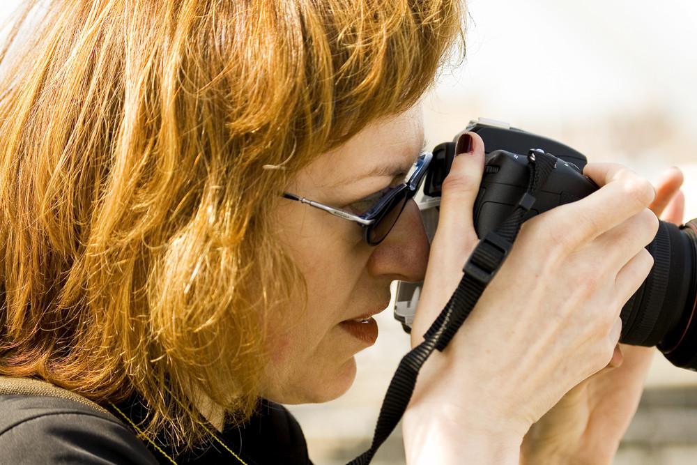 La concentrazione della fotografa
