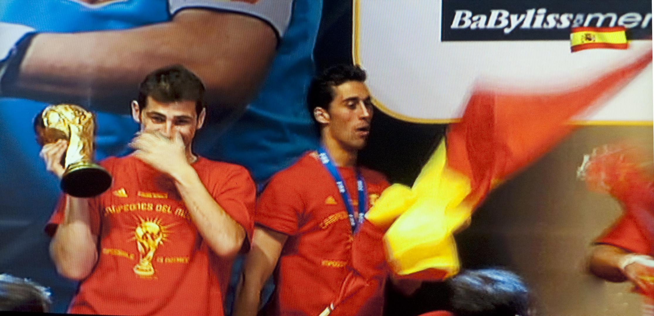 La copa. Las lágrimas de Casillas, el mejor portero del mundo