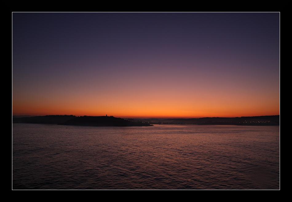 La Coruna bei Sonnenaufgang