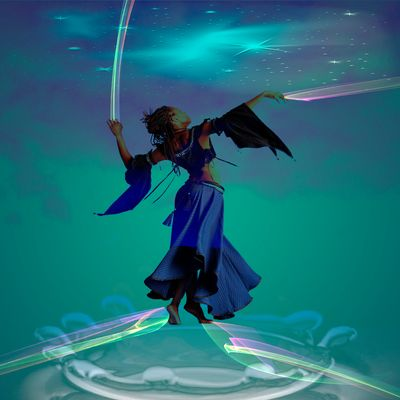 la danseuse aux couleurs de l'arc en ciel