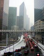 La Défense par temps de neige