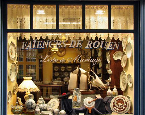 La devanture de la boutique à Rouen