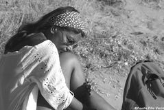La donna con lo zaino...