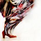 la falda roja