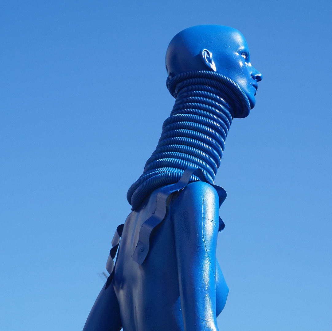 la femme Padaung ou le cou bleu