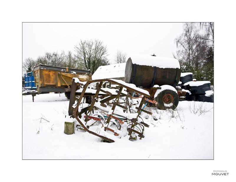 la ferme en hiver....