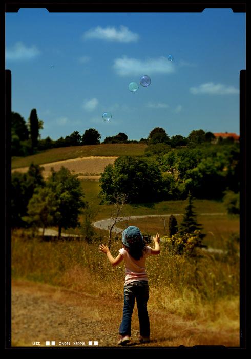 La fille aux bulles