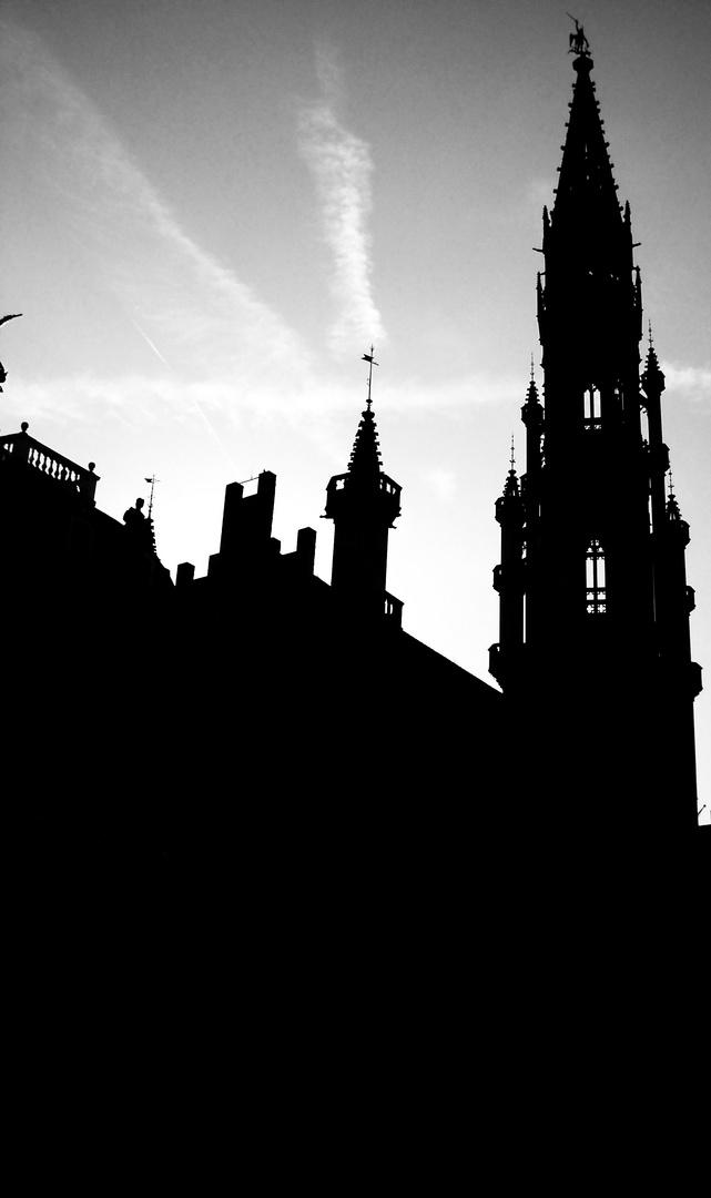 La flèche de l'Hôtel de ville de Bruxelles