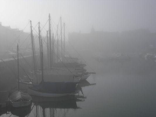 La Flotte ...un jour de brouillard