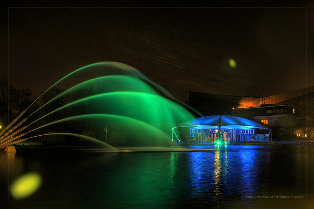 La Fontaine en vert