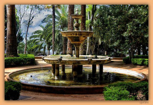 La fuente (Carmen de Los Mártires). Para Lola y Fernando.