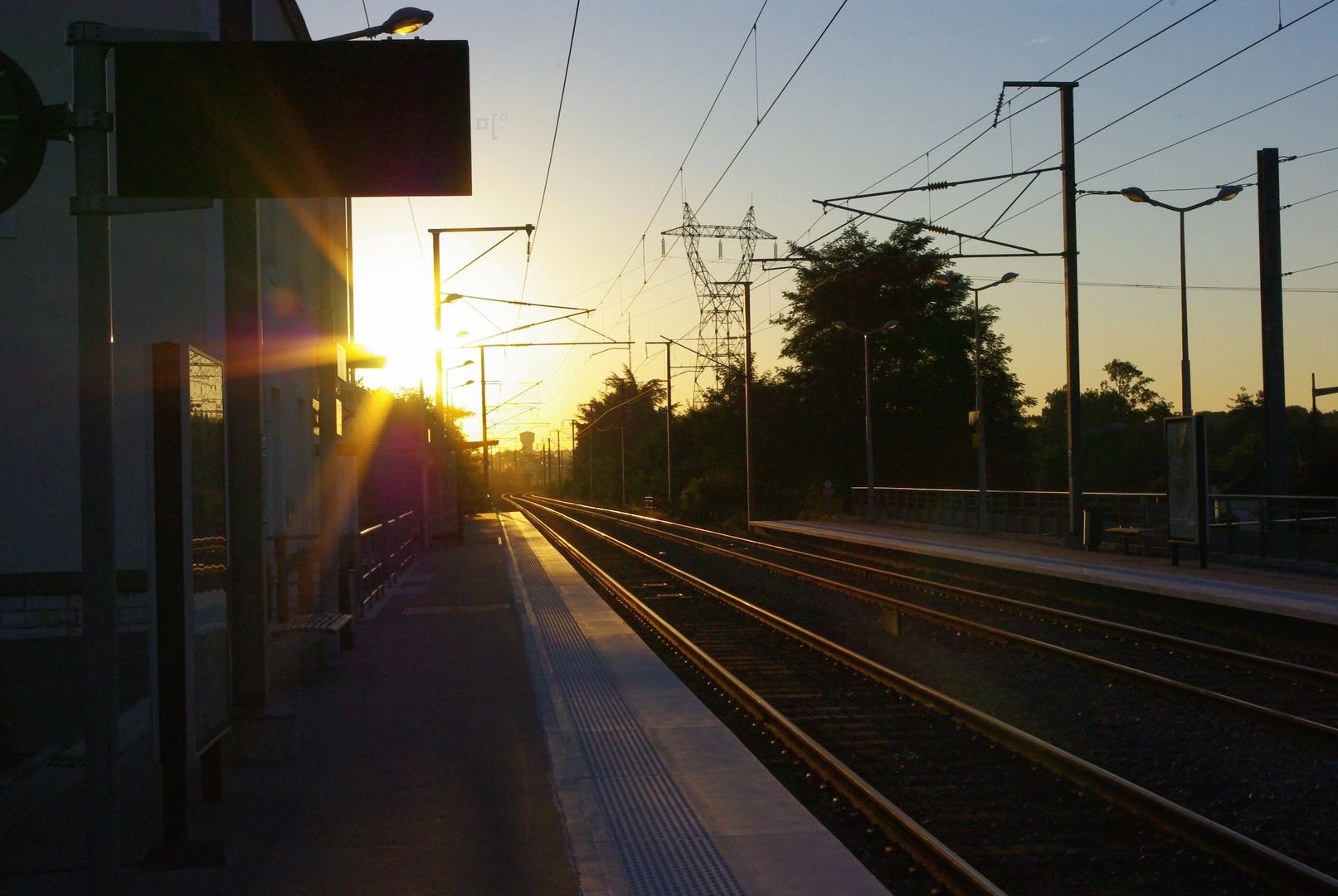 La gare...