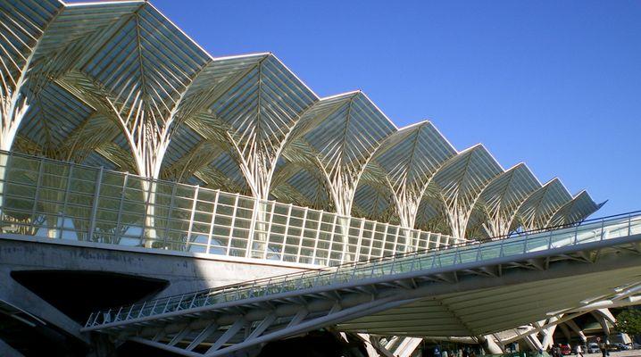 la gare d'Oriente à Lisbonne