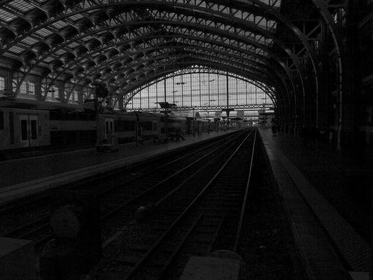 La gare en mouvement