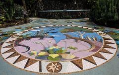 La Glorieta - Grosses rundes Bodenmosaik