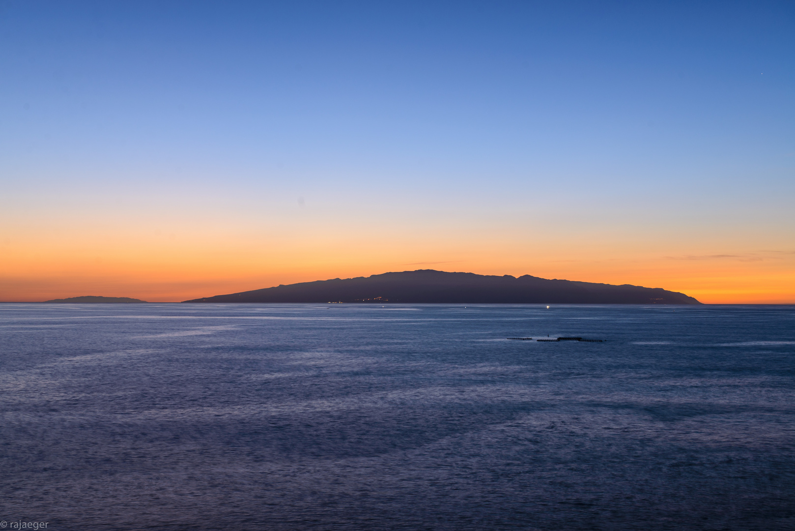 La Gomera im Sonneuntergang