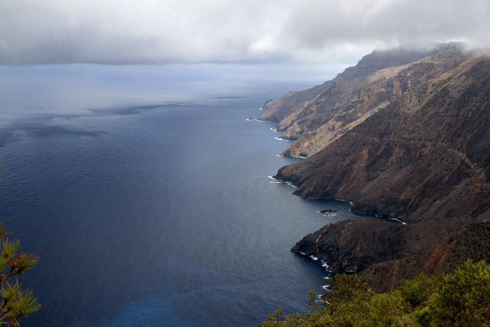 La Gomera, tatsächlich Regenwolken