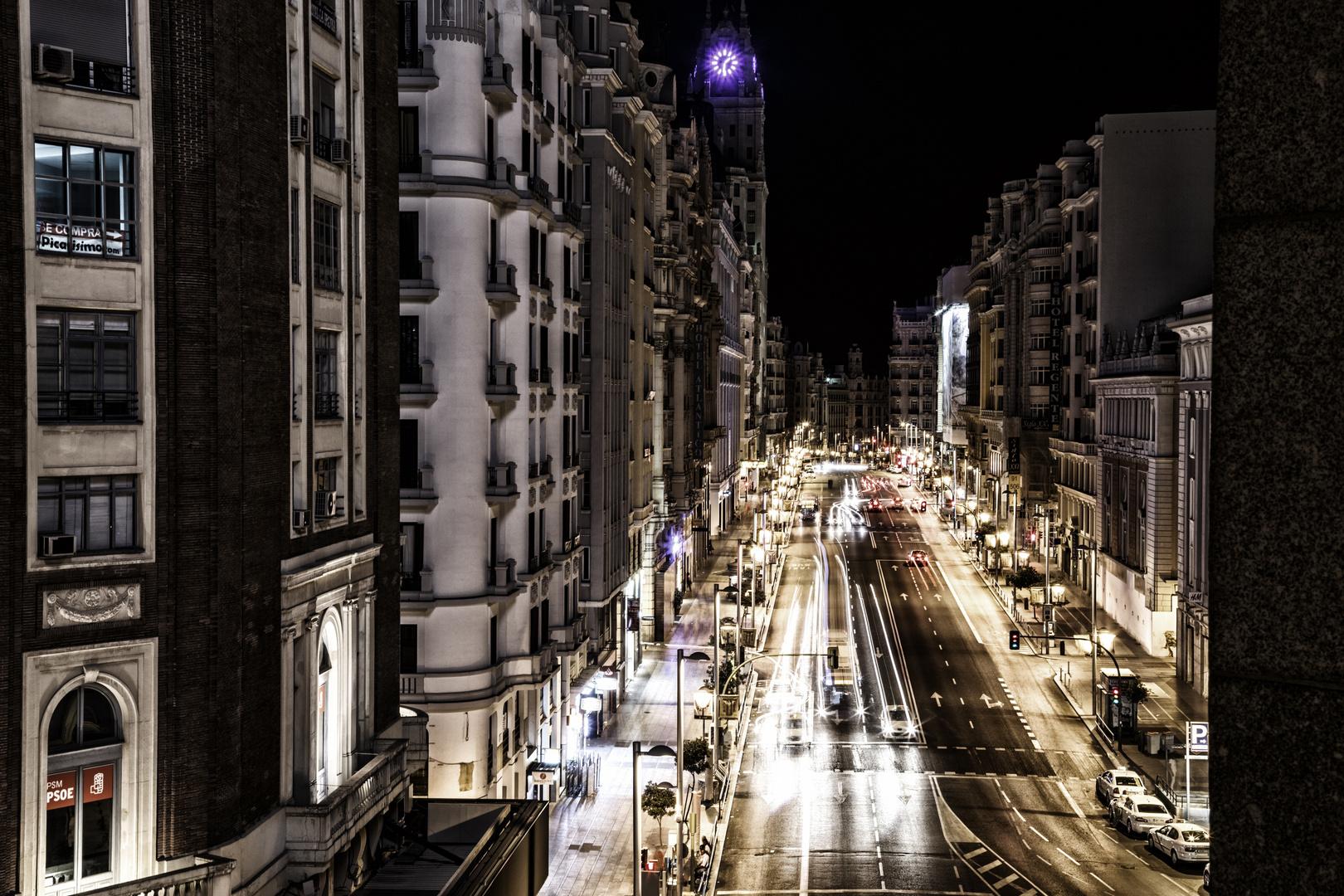La Gran Via, Madrid.