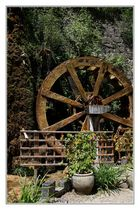 La grande roue du jardin des fontaines pétrifiantes