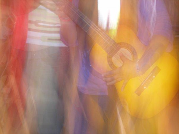 La guitare en feu