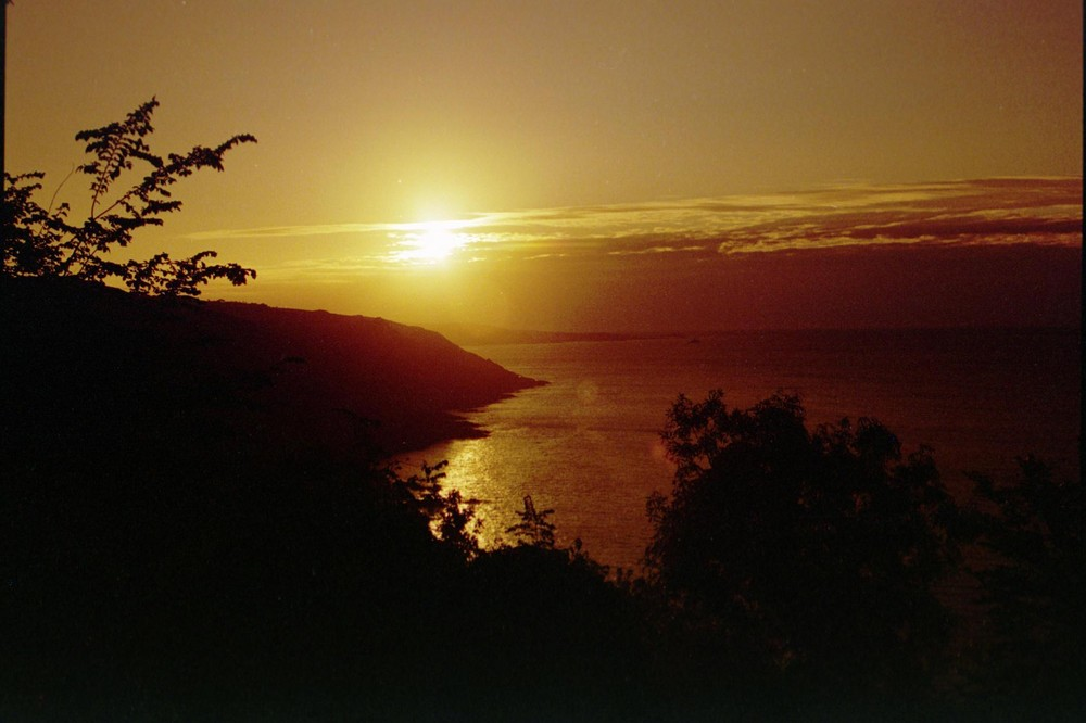 La hague, coucher de soleil à Landemer (50)