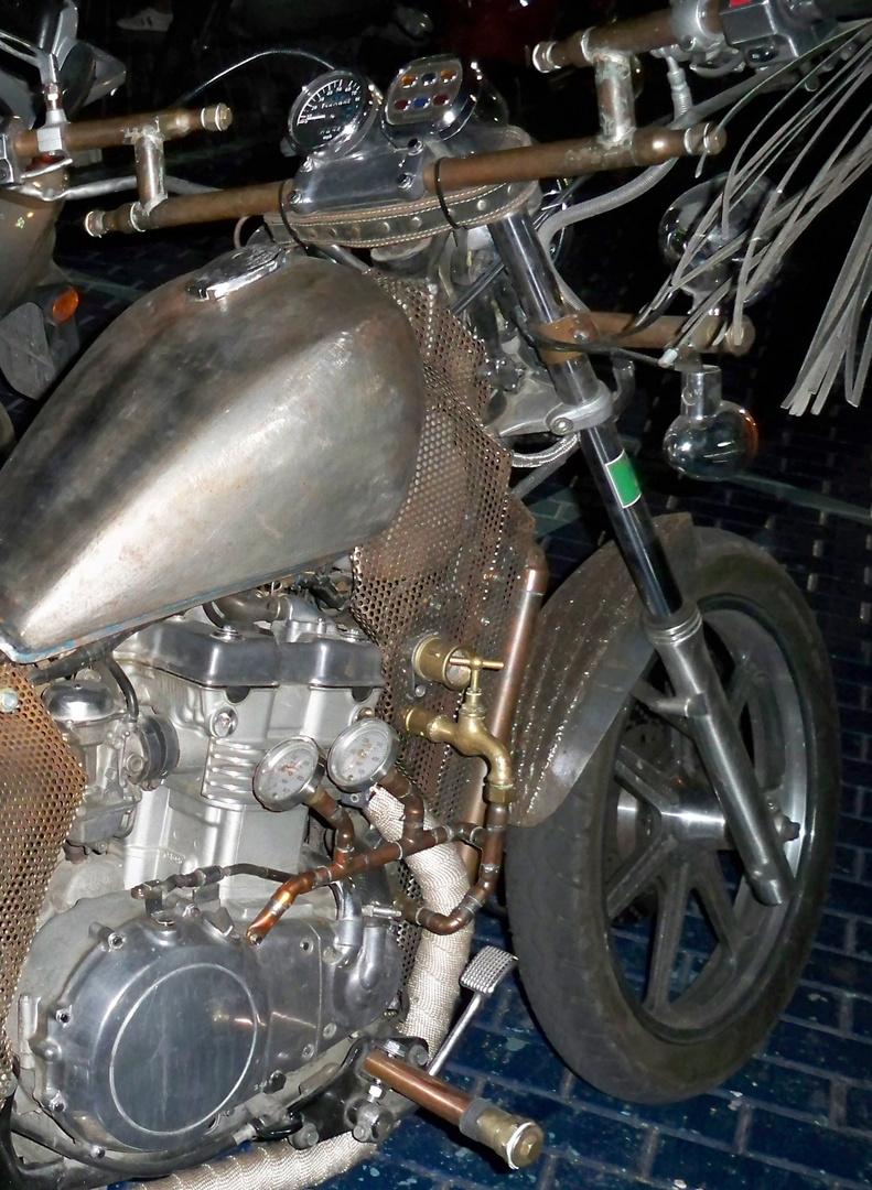 La Harley del fontanero.