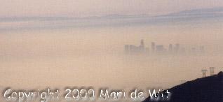 LA in the smog