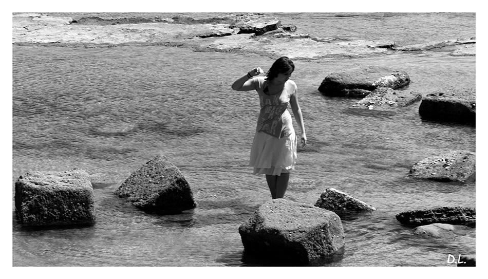 ...La jeune fille et la mer...