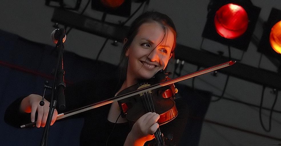 La jolie violoniste