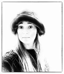 La joven del sombrero
