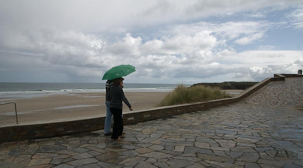 La lluvia y la playa